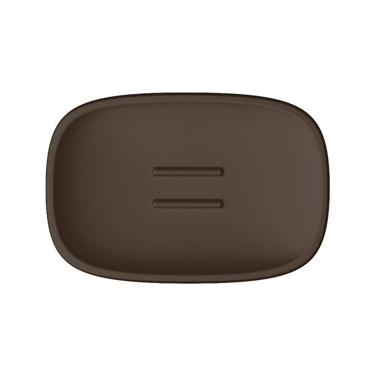 Immagine di Colombo Design TRENTA MOOD porta sapone d'appoggio, colore bronze anodic brown B3040RALAB