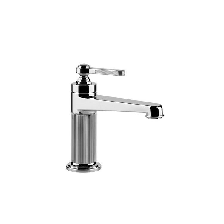 Immagine di Gessi VENTI20 miscelatore lavabo H.17 cm, con scarico e flessibili di collegamento, finitura cromo 65001#031