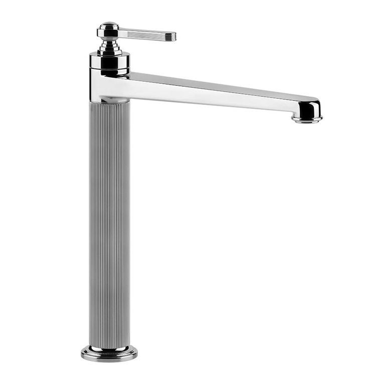 Immagine di Gessi VENTI20 miscelatore lavabo H.32 cm, con scarico e flessibili di collegamento, finitura cromo 65003#031