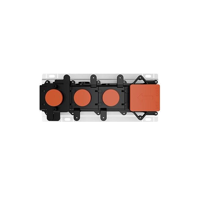 """Immagine di Gessi Parte incasso per miscelatore termostatico a due funzioni, con attacchi da 3/4"""" 63011#031"""