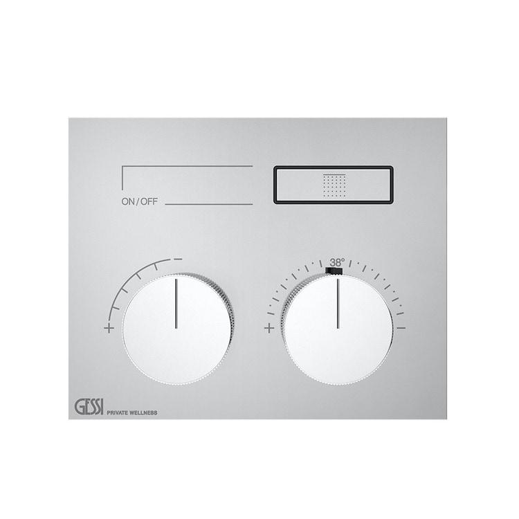 Immagine di Gessi HI-FI COMPACT miscelatore termostatico a una funzione, con pulsanti on-off, finitura cromo 63002#031