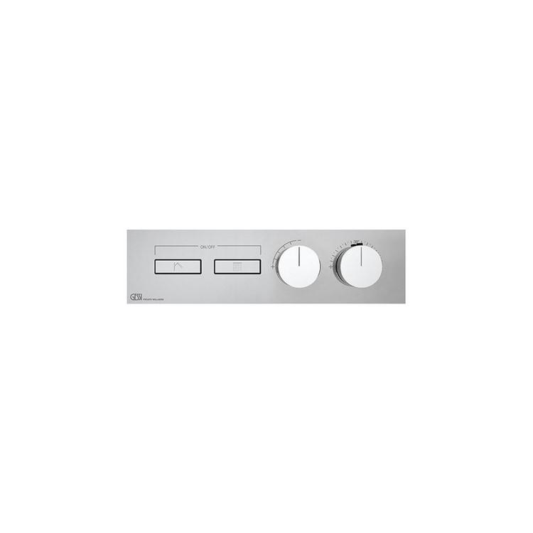Immagine di Gessi HI-FI LINEAR miscelatore termostatico a due funzioni simultanee, con pulsanti on-off, finitura cromo 63012#031