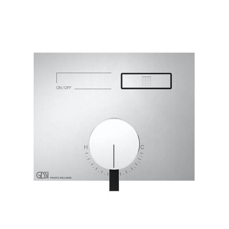 Immagine di Gessi HI-FI MIXER miscelatore monocomando a una funzione, con pulsanti on-off, finitura cromo 63061#031