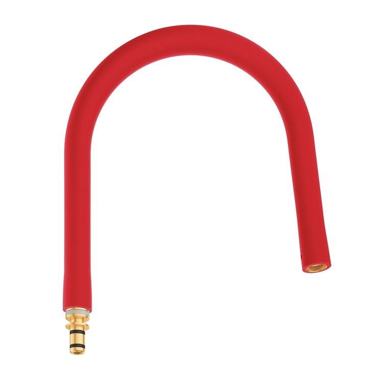 Grohe Essence Flessibile elastico Rosso GROHflexx kitchen con doccetta professionale integrata dotata di braccio a molla orientabile a 360°, finitura rosso 30321DG0