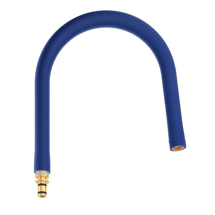 Grohe Essence Flessibile elastico Blu GROHflexx kitchen con doccetta professionale integrata dotata di braccio a molla orientabile a 360°, finitura blu 30321TY0