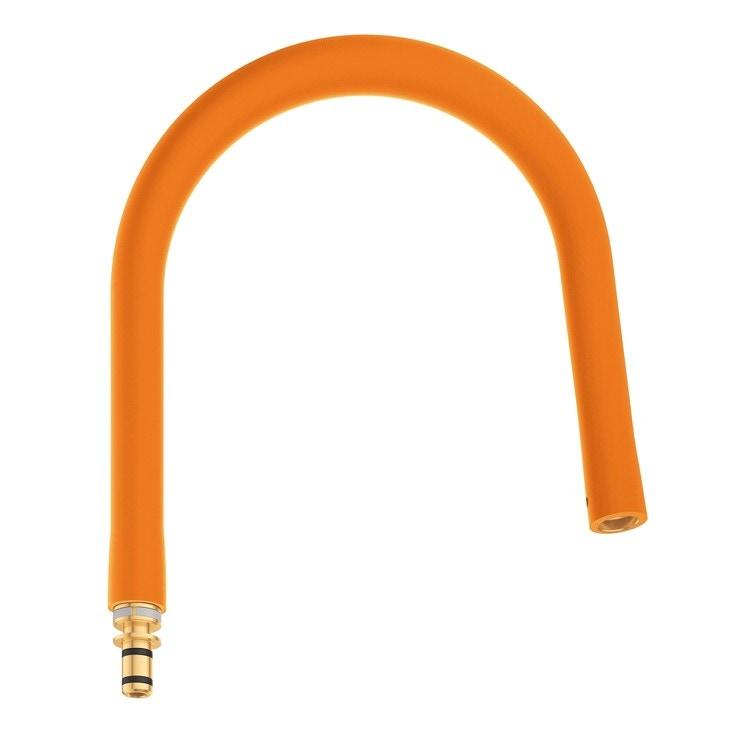 Grohe Essence Flessibile elastico Arancione GROHflexx kitchen con doccetta professionale integrata dotata di braccio a molla orientabile a 360°, finitura arancione 30321YR0