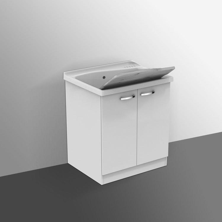 Ideal Standard LAGO mobile sottolavatoio con asse in legno 75 x 61 cm, bianco J0027PW