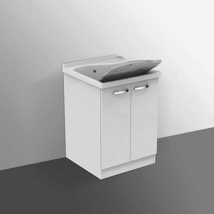 Ideal Standard LAGO mobile sottolavatoio con asse in legno 61 x  60 cm, bianco J0028PW