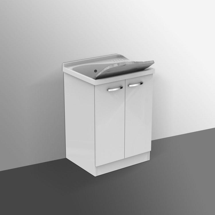Ideal Standard LAGO mobile sottolavatoio con asse in legno 61 x 50 cm, bianco J0029PW