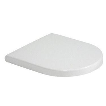 Duravit STARCK 3 sedile con coperchio, senza chiusura rallentata, cerniere in acciaio inox, colore bianco 0063810000