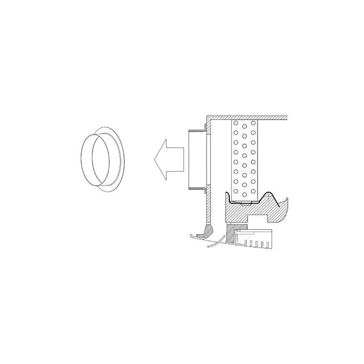 Sabiana Codolo distribuzione aria (modello 4-5-6-7-8) non montabile sui modelli MCT con mobile di copertura 9079233
