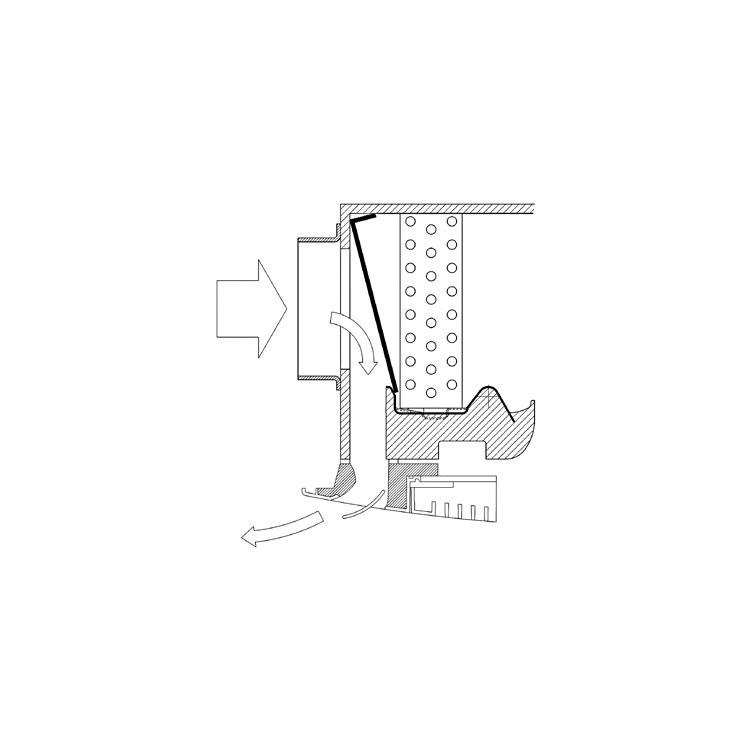 Sabiana Kit aria primaria ad una via (modello 4-5-6) non montabile sui modelli MCT con mobile di copertura 9079231