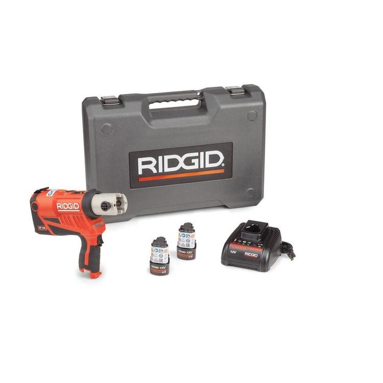 Immagine di Ridgid RP 240 Pressatrice senza ganasce, con 2 batterie Litio Advanced 12 V 2.5 Ah, 1 Caricabatterie Veloce e Cassetta 59228