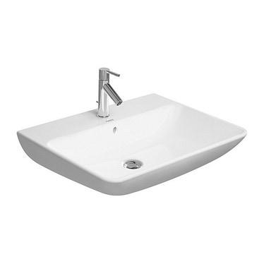 Duravit ME BY STARCK lavabo 65 cm monoforo, con troppopieno, con bordo per rubinetteria, lato inferiore smaltato, colore bianco finitura opaco 2335653200