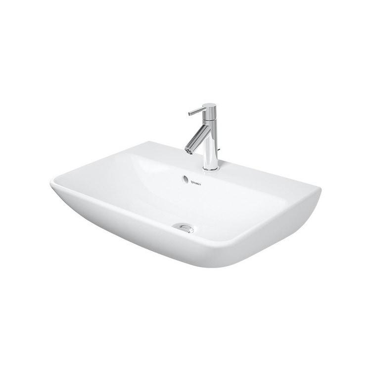 Duravit ME BY STARCK lavabo Compact 60 cm monoforo, con troppopieno, con bordo per rubinetteria, colore bianco finitura opaco 2343603200