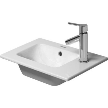 Duravit ME BY STARCK lavamani consolle 43 cm monoforo, con bordo per rubinetteria, con troppopieno, colore bianco finitura opaco 0723433200