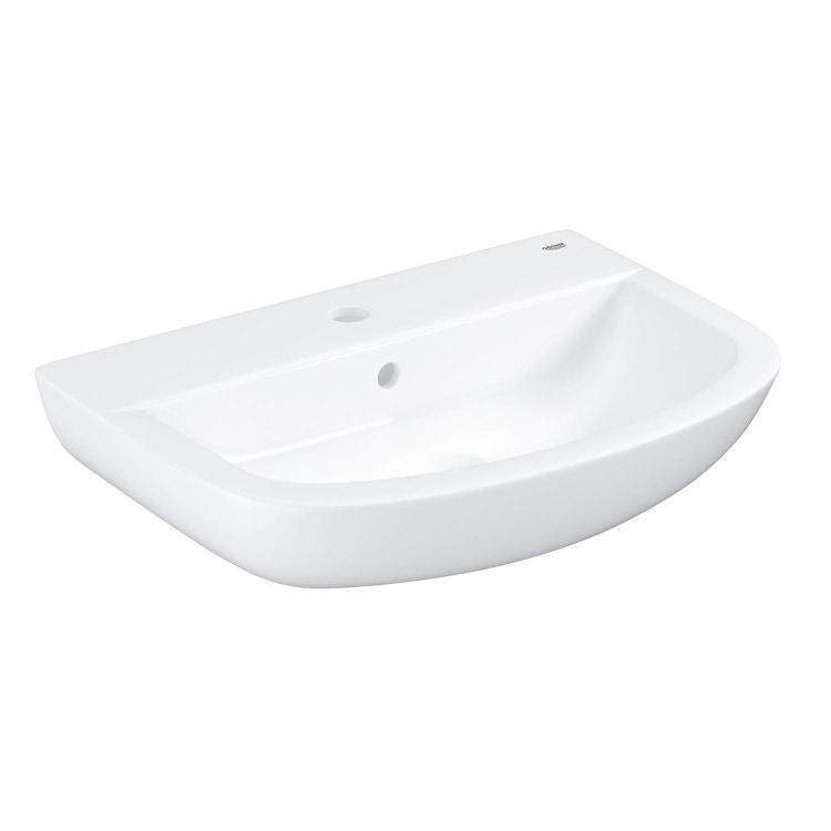 Grohe Bau Ceramic lavabo 55 cm monoforo con troppopieno, bianco 39440000