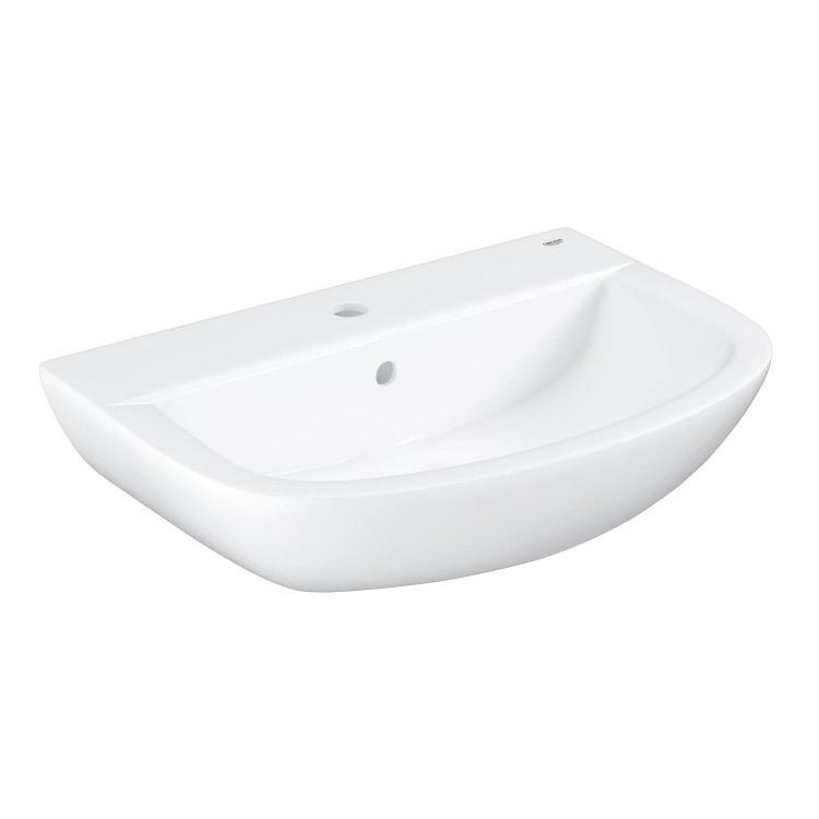 Grohe Bau Ceramic lavabo 60 cm monoforo con troppopieno, bianco 39421000