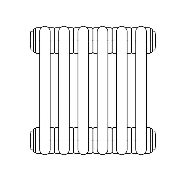 Irsap TESI 2 radiatore 6 elementi H.200 L.27 P.6,5cm, colore grigio quarzo finitura lucido RT220000631IRNON