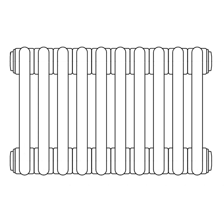 Irsap TESI 2 radiatore 10 elementi H.200 L.45 P.6,5cm, colore grigio quarzo finitura lucido RT220001031IRNON01
