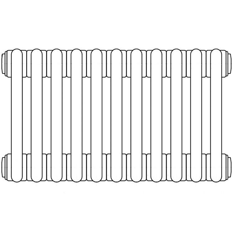 Irsap TESI 3 radiatore 11 elementi H.200 L.49,5 P.10,1cm, colore grigio quarzo finitura lucido RT320001131IRNON