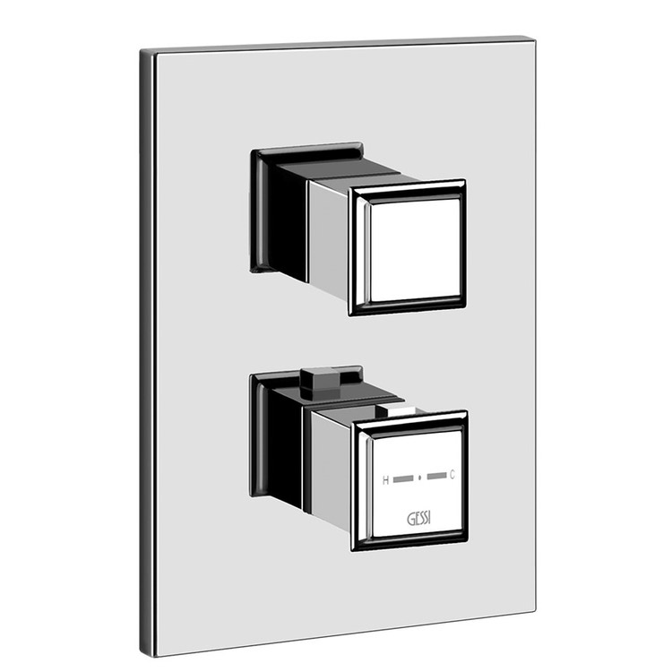 Immagine di Gessi ELEGANZA miscelatore termostatico per doccia, a parete, 3 uscite, finitura gold CCP 46236#080