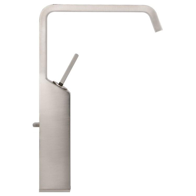 Gessi RETTANGOLO XL miscelatore joystick lavabo H.34 cm, con scarico con flessibili di collegamento, finitura bianco CN 11953#279