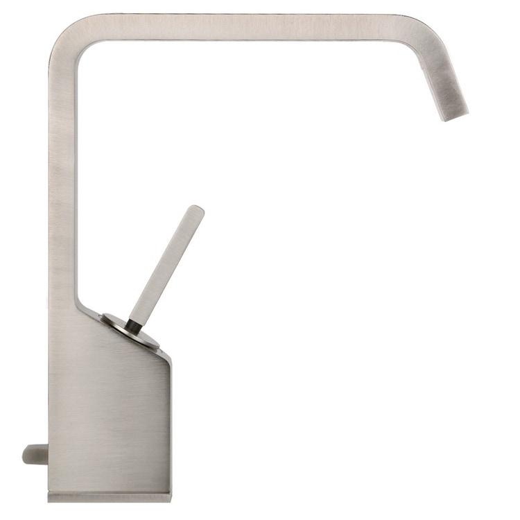 Gessi RETTANGOLO XL miscelatore joystick lavabo, con scarico e flessibili di collegamento, finitura bianco CN 26101#279