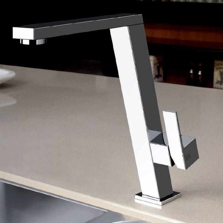 Gessi INCLINE miscelatore monocomando inclinato con canna girevole per lavello finitura cromo 17047#031