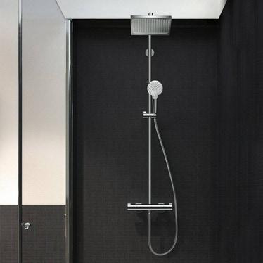 Hansgrohe CROMETTA E showerpipe 240 1jet con termostatico finitura cromo 27271000