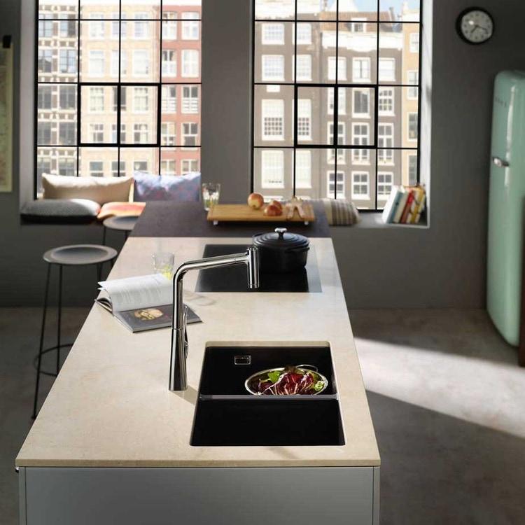 Hansgrohe M71 miscelatore cucina monocomando alto con bocca d'erogazione estraibile finitura cromo 73801000