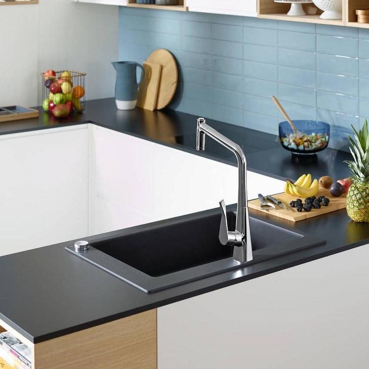 Hansgrohe M71 Miscelatore cucina monocomando alto a 2 fori con doccetta estraibile finitura cromo 73806000