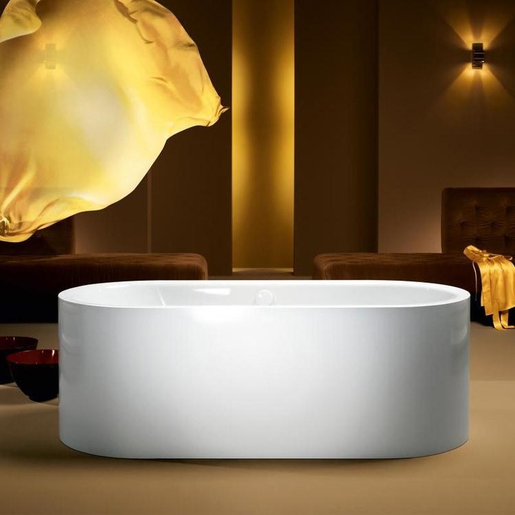 Kaldewei MEISTERSTÜCK CENTRO DUO OVAL vasca da bagno 170x75 cm in acciaio smaltato, con colonna di scarico e troppopieno KA 4040, colore bianco alpino 200140403001