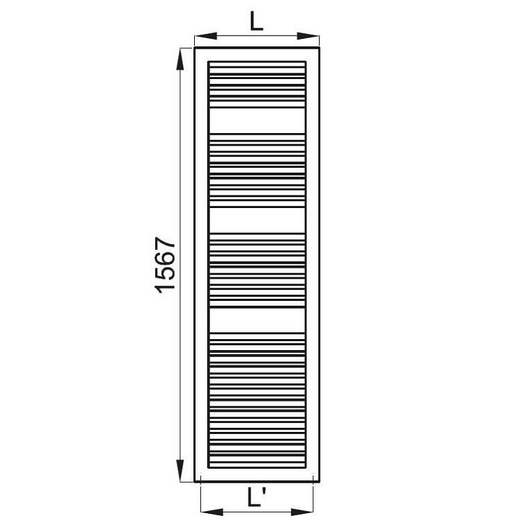 Irsap NOVO CULT scaldasalviette, 30 tubi, 3 intervalli, 156,7x45x4,9 cm, bianco standard NSL045B01IR01NNN03