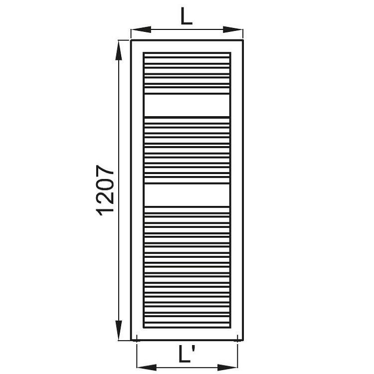 Irsap NOVO CULT scaldasalviette, 23 tubi, 2 intervalli, 120,7x45x4,9 cm, bianco standard NSM045B01IR01NNN02