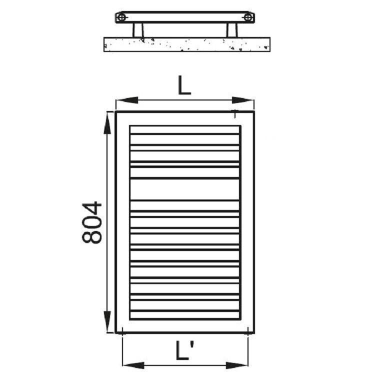 Irsap ODDO scaldasalviette, 10 tubi, 1 intervallo, 80,4x45x3,65cm, bianco standard LES045B01IR01NNN01