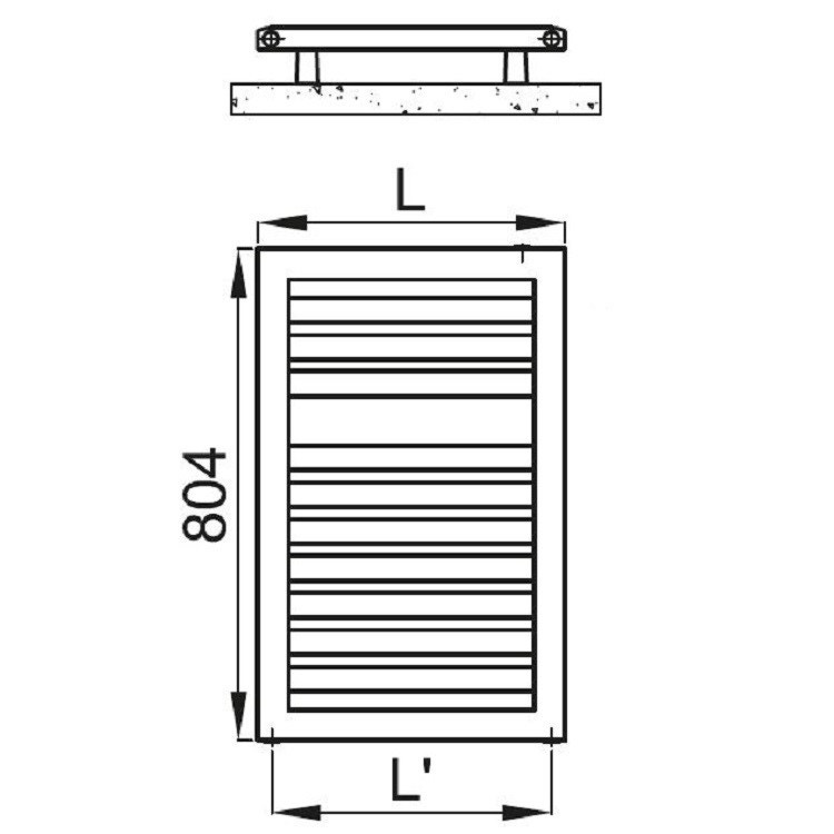 Irsap ODDO scaldasalviette, 10 tubi, 1 intervallo, 80,4x60x3,65cm, bianco standard LES060B01IR01NNN01