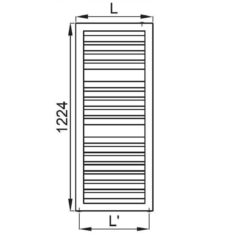 Irsap ODDO scaldasalviette, 16 tubi, 2 intervalli, 122,4x45x3,65cm, bianco standard LEM045B01IR01NNN02