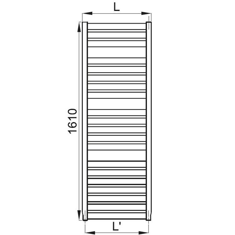 Irsap VELA scaldasalviette, 20 tubi, 3 intervalli, 161x46x3 cm, bianco standard VEL046B01IR01NNN01