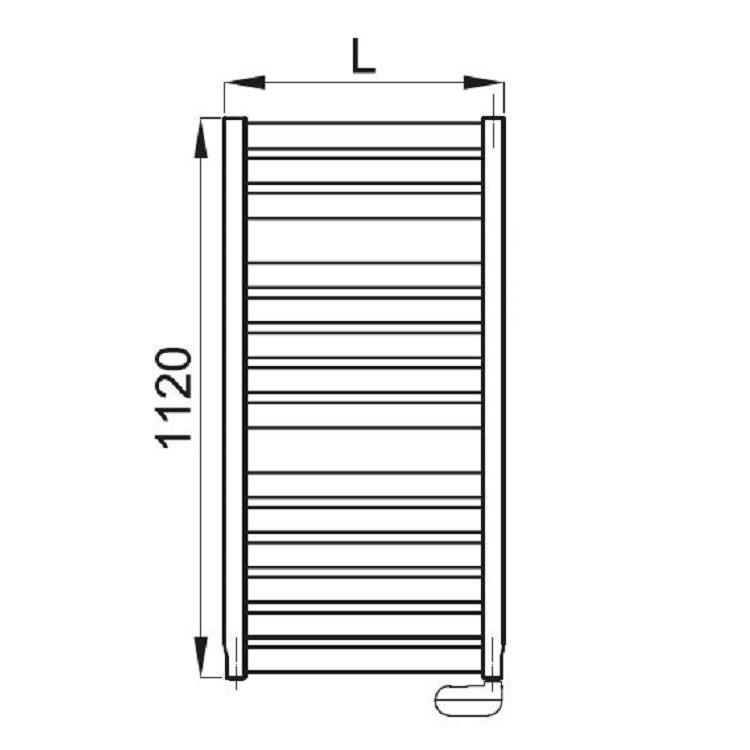 Irsap VELA ELETTRICO scaldasalviette, 14 tubi, 2 intervalli, 112x56x3 cm, bianco standard, con termostato elettronico VEM056K01IR01NNN01