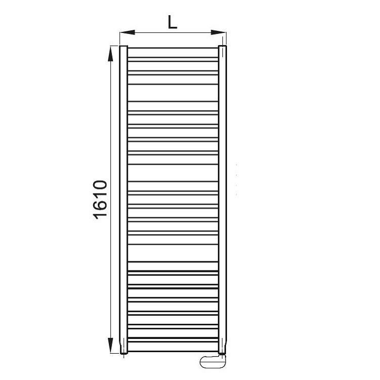Irsap VELA ELETTRICO scaldasalviette, 20 tubi, 3 intervalli, 161x56x3 cm, bianco standard, con termostato elettronico VEL056K01IR01NNN01