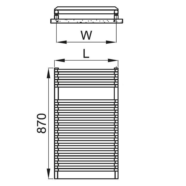 Irsap NET ELETTRICO scaldasalviette, 18 tubi, 1 intervallo, 87x50x6,7 cm, bianco standard NDS050Z01IR01NNN02