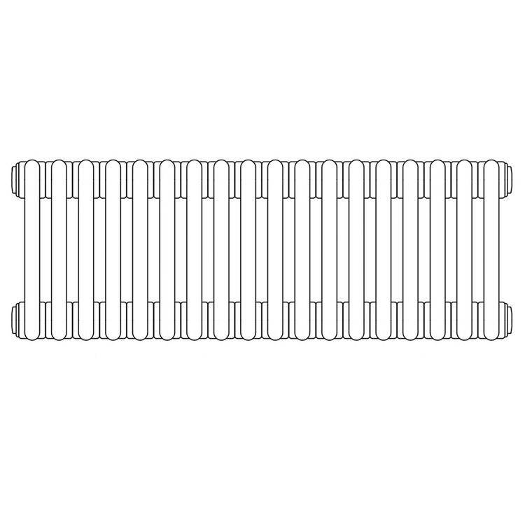 Irsap TESI 4 radiatore per sostituzione A, 18 elementi H.66,5 L.81 P.13,9cm, colore grigio quarzo finitura lucido RT406651831IRNON