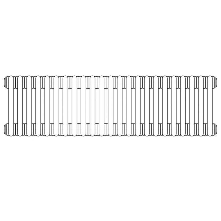 Irsap TESI 5 radiatore per sostituzione A, 23 elementi H.66,5 L.103,5 P.17,7cm, colore grigio quarzo finitura lucido RT506652331IRNON