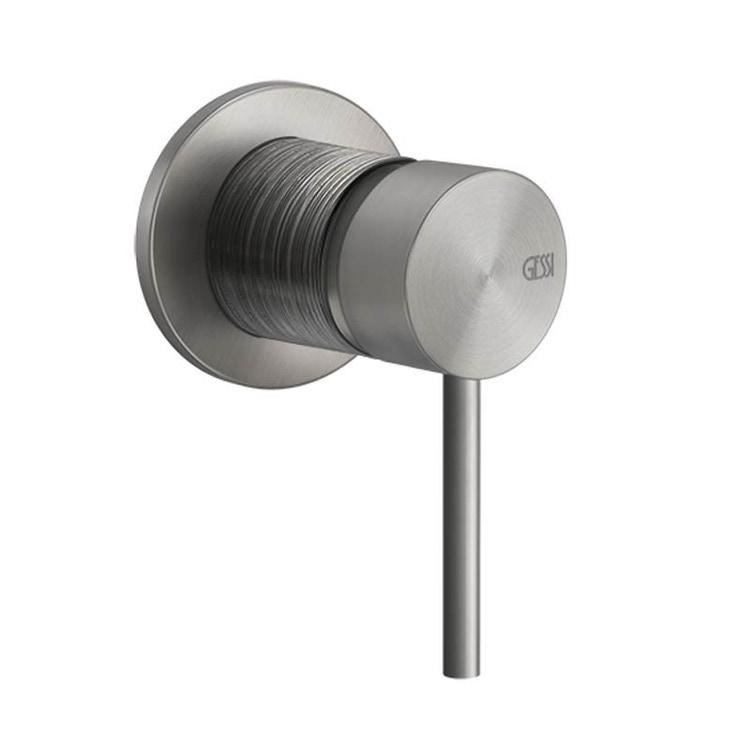 Gessi 316 TRAME comando remoto lavabo/doccia a parete, 1 via, finitura copper brushed PVD 54319#708