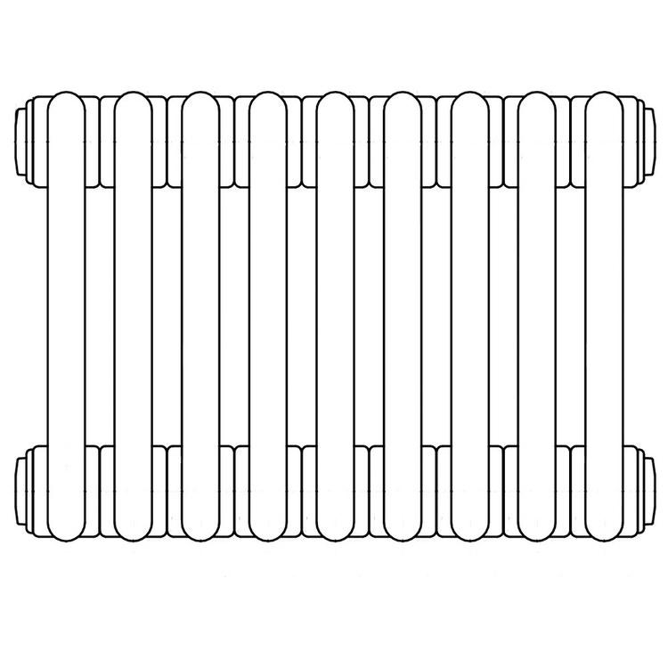 Irsap TESI 4 radiatore per sostituzione A, 9 elementi H.86,5 l.40,5 P.13,9cm, colore bianco finitura opaco RT4086509J8IRNON