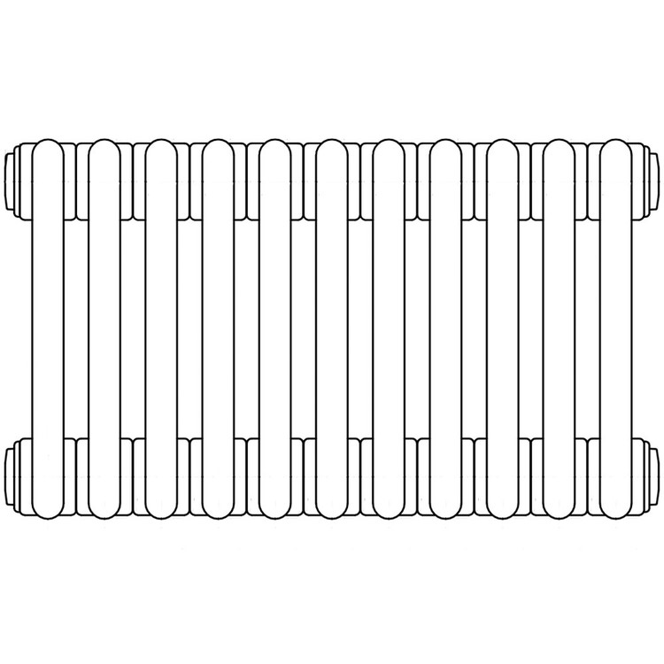 Irsap TESI 4 radiatore per sostituzione A, 11 elementi H.206,5 L.49,5 P.13,9cm, colore bianco finitura opaco RT4206511J8IRNON
