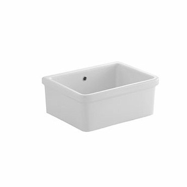 Pozzi Ginori RUSCELLO lavello per installazione su mensola 60x45x27,5 cm, colore bianco 60446000