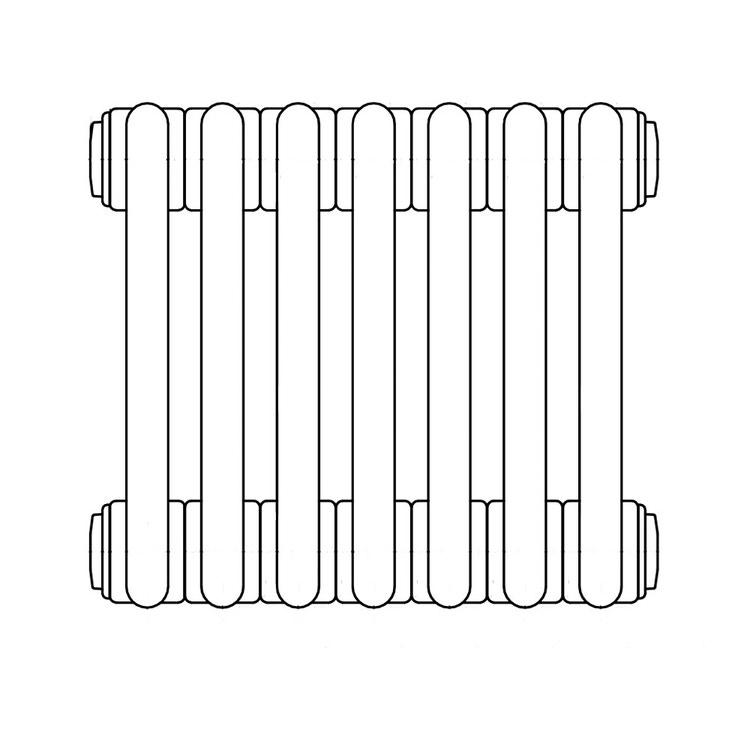 Irsap TESI 3 , radiatore per sostituzione A, 7 elementi 76,5x31,5x10,1cm, bianco RT307650701IRNON02