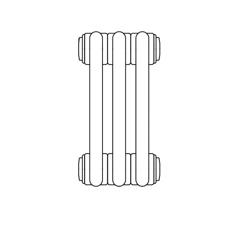 Irsap TESI 2, radiatore per sostituzione A, 3 elementi 56,5x13,5x6,5cm, bianco RT205650301IR02N01